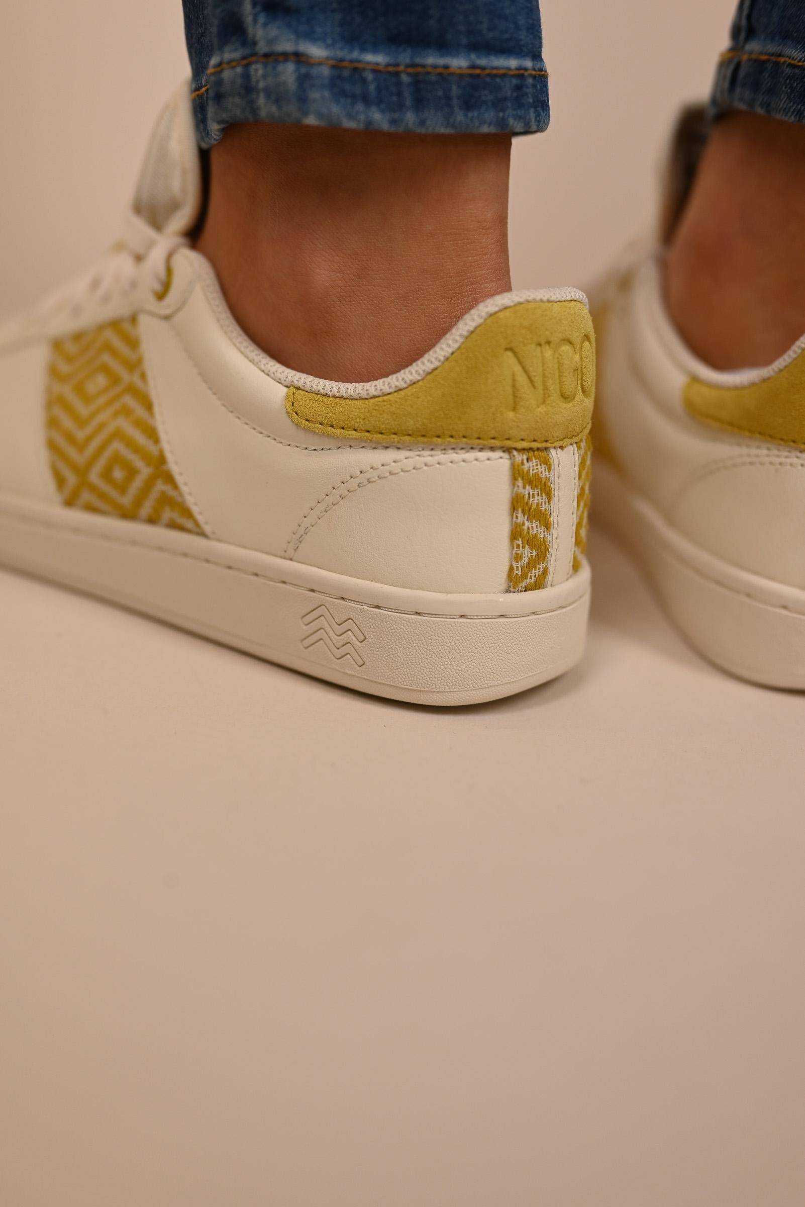 N'GO Sneaker HA GIANG  cream/yellow