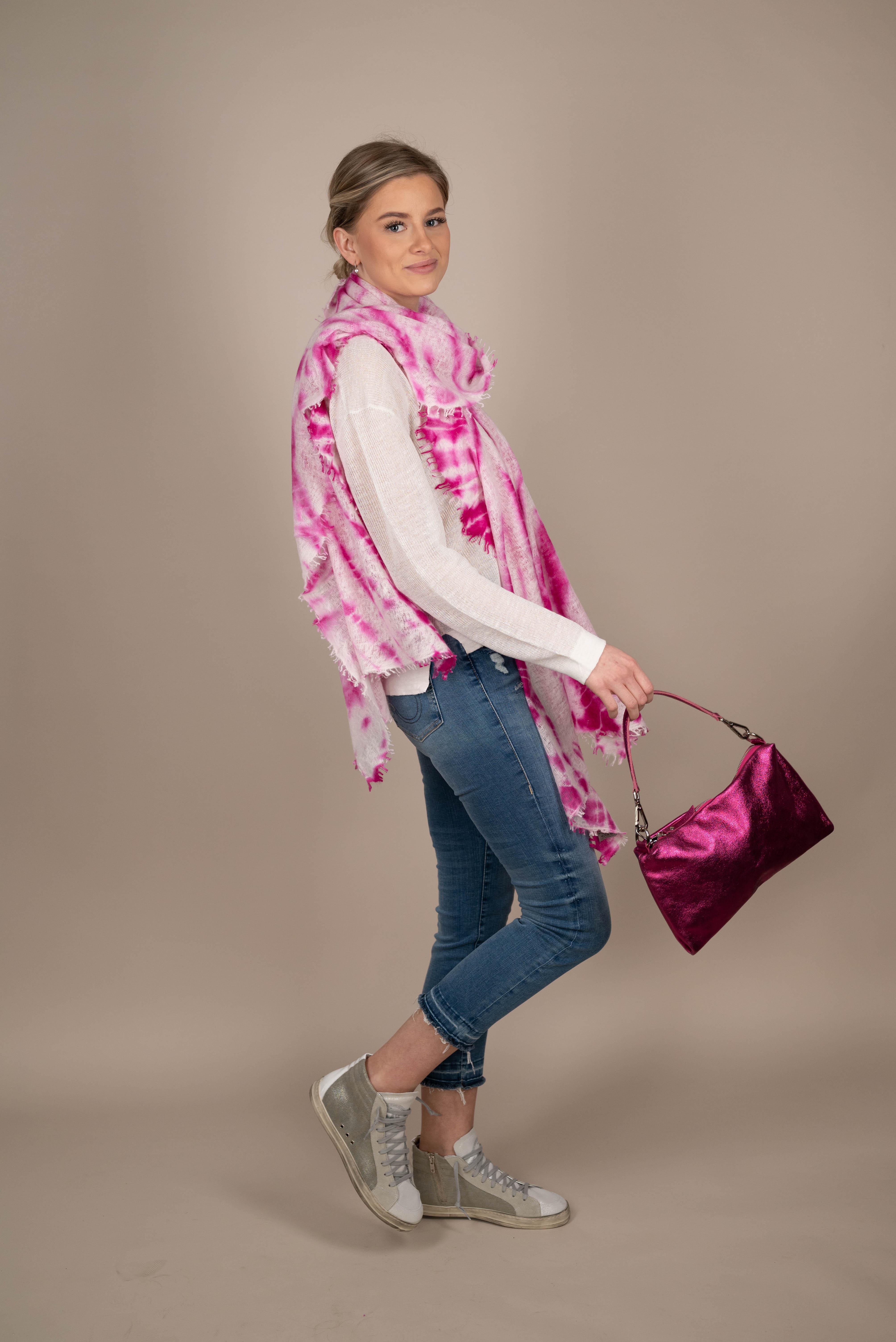 PUR SCHÖN Schal Java Puder Pink