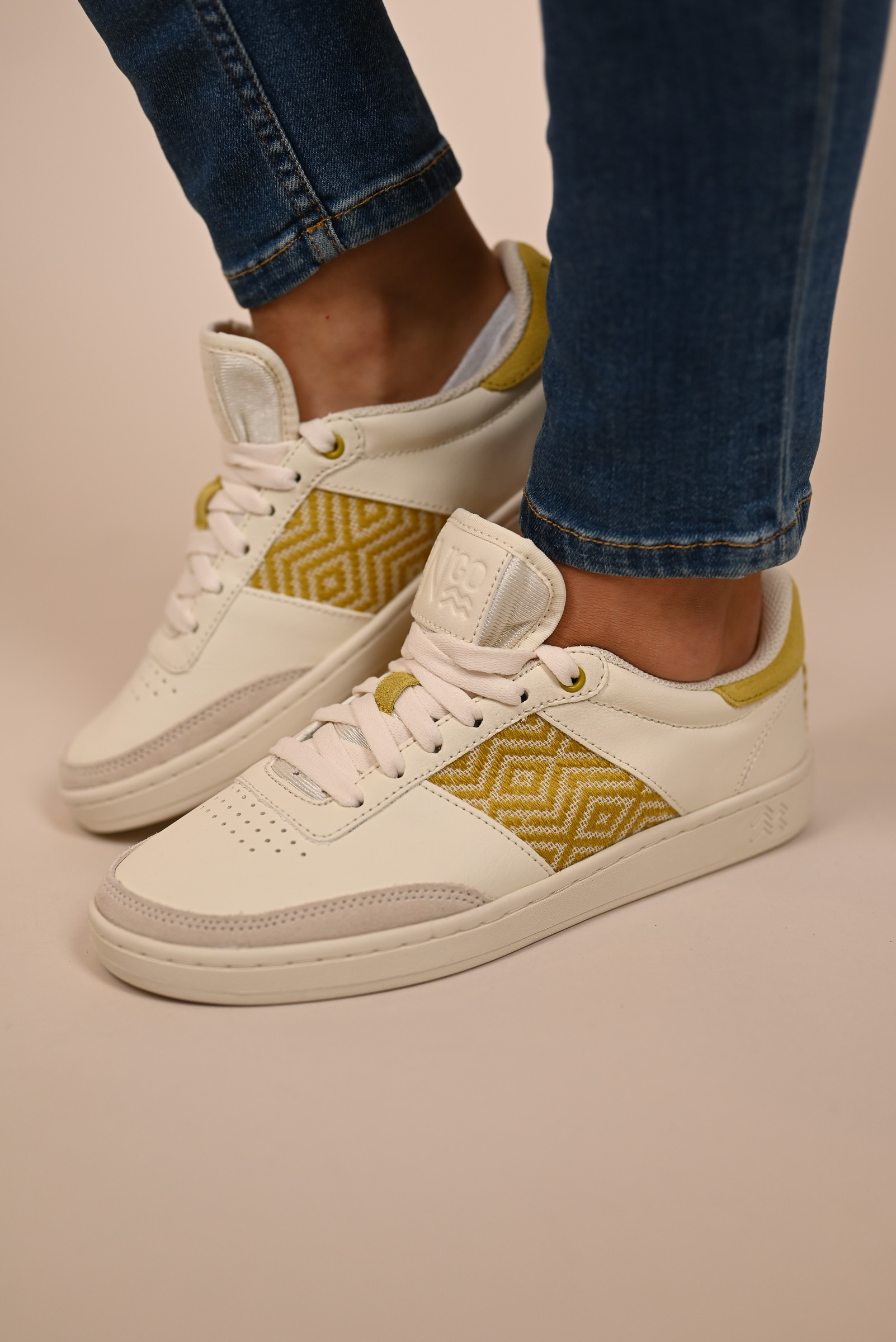 N'GO Sneaker HA GIANG  cream/yellow